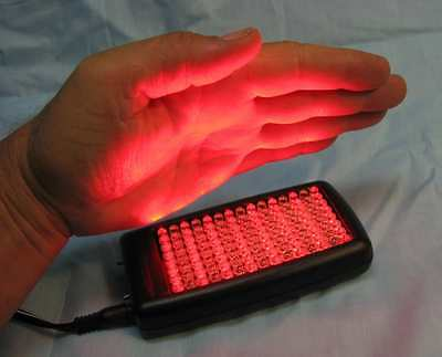 NEW Dual RED & INFRARED LIGHT Fast Pain Relief Therapy speeds healing 120 LEDs
