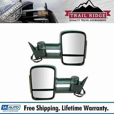 Power Mirror For 2007-14 Chevrolet Tahoe Right Manual Fold Heated Textured Black