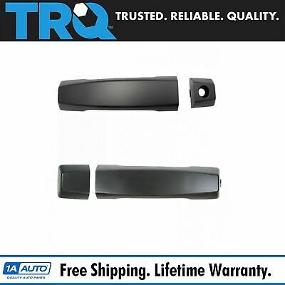 Door Handle Front Black PTM Outside Pair Set of 2 for QX56 Armada Titan NEW