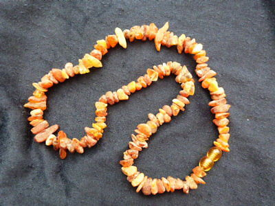 Baltic 100 % Real Natural Not Polished Choker Amber Necklace Health Treatment