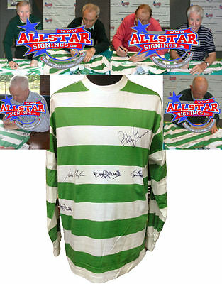 Glasgow Celtic 1967 European Cup Final Shirt Signed By 7 Lisbon Lions See Proof