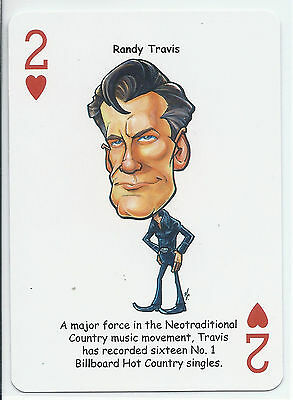Randy Travis - Country Music Singer - ODDBALL Playing card