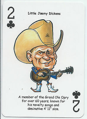 Little Jimmy Dickens - Country Music Singer - ODDBALL Playing card