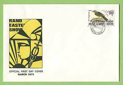 Malawi 1970 Rand Easter Show ovpt on Bird stamp First Day Cover
