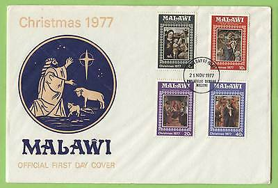 Malawi 1977 Christmas set on First Day Cover