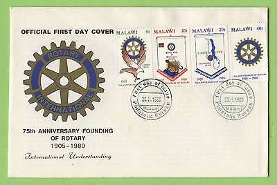 Malawi 1980 75th Anniversary of Founding of Rotary set First Day Cover