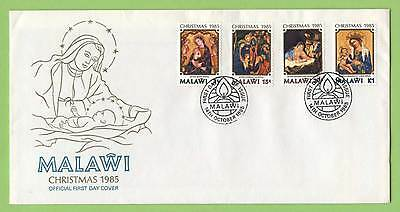Malawi 1985 Christmas set on First Day Cover