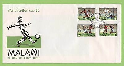 Malawi 1986 World Cup Football set on First Day Cover