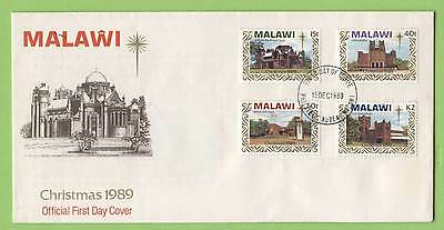 Malawi 1989 Christmas set on First Day Cover