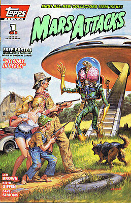 Mars Attacks Topps Comics #1,2,3,4,5 Set Vf-