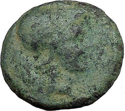 Pergamon in Asia Minor 150BC Ancient Greek Coin Athena Trophy Tropaion  i34023