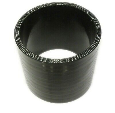 "BLACK Silicone Hose Coupler 76mm Straight (3"" Inch Silicon Joiner)"