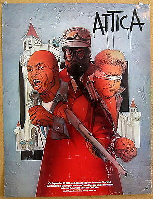~ Attica Original 1980 ABC Theater Promotional Poster Charles Durning