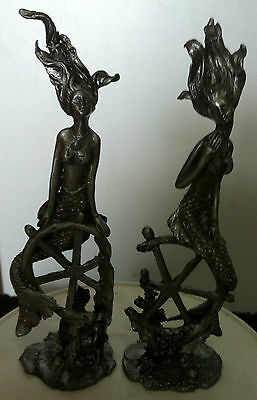 Mythical Lead Figures Mermaids Titled A Sailors Dream Or The Ship Wreck Beautys