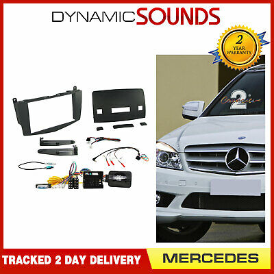 Mercedes C Class W204 2007-2011 Double Din Car Stereo Fascia Fitting Kit CTKMB04