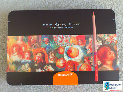 Marco Renoir - 48 Color Drawing Pencils set in Tin for Artist (3100TN)