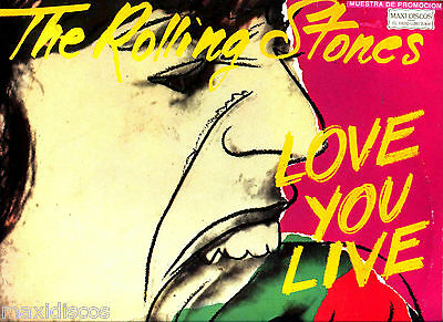 LPx2 - THE ROLLING STONES - LOVE YOU LIVE (SPANISH PROMO) ARTWORK BY ANDY WHAROL