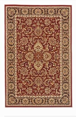 6x8 Radici Burgundy Border Traditional 1305 Area Rug - Approx 5' 5'' x 8' 3''