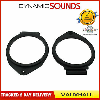 CT25VX09 165mm Front/Rear Door Speaker Adaptor Kit Rings For Vauxhall Astra