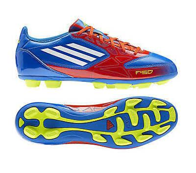 outlet store 79a87 e5f40 Adidas F5 TRX HG Blue Red Moulded Studs Mens Football Boots Size 6-12 UK
