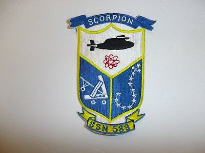 b2961 Cold War US Navy Submarine Patch USS Scorpion SSN 589 IR35E