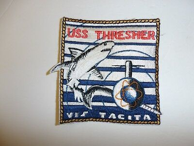 b2962 Cold War US Navy Submarine Patch USS Thresher Vis Tacita IR35E