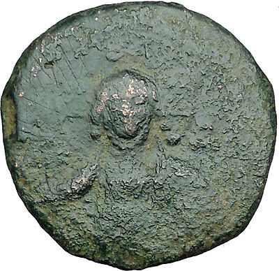 JESUS CHRIST Class A2 Anonymous Ancient 1028AD Byzantine Follis Coin   i34187