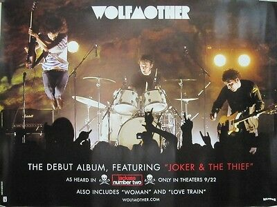 WOLFMOTHER 2006 live stage group/cover 2 sided promo poster Flawless New Old Stk