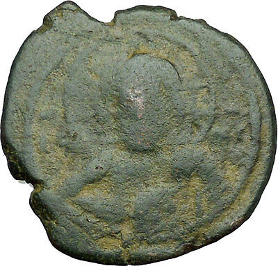 JESUS CHRIST Class E Anonymous Ancient 1059AD Byzantine Follis Coin  i34255