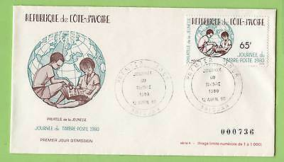 Ivory Coast 1980 Stamp Day (series a) First Day Cover