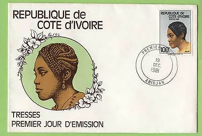 Ivory Coast 1981 100f Hairstyles  First Day Cover