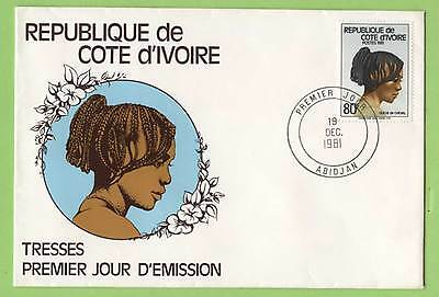 Ivory Coast 1981 80f Hairstyles  First Day Cover