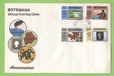 Botswana 1990 Anniversaries set on First Day Cover