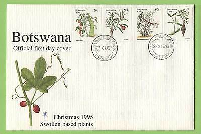 Botswana 1995, Swollen Bases plants set on First Day Cover