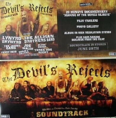 ROB ZOMBIE 2005 2 sided devil's rejects promo poster ~MINT condition~!!