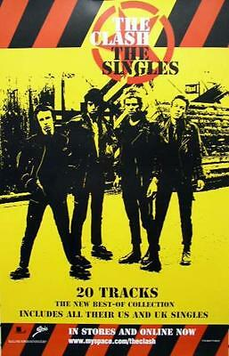 THE CLASH 2007 the singles promotional poster ~MINT condition~NEW old stock~!!