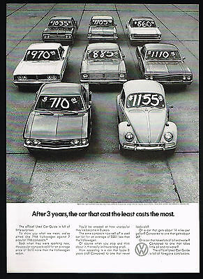 1969 VW Volkswagen Beetle Photo Used Car Prices Least Costs The Most Print Ad