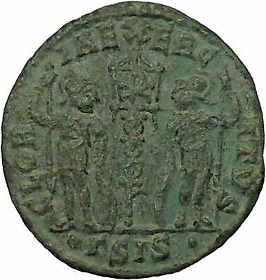 Constans Gay Emperor Constantine the Great son Roman Coin Glory of Army  i34534