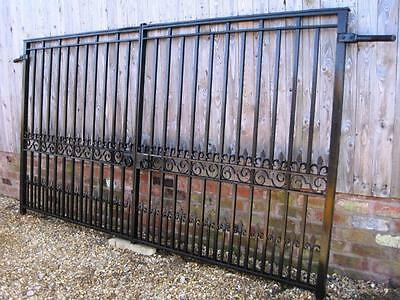 Reclaimed Antique Cast and Wrought Iron Driveway Gates - Garden