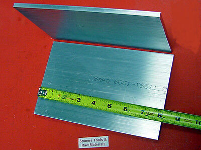 "2 Pieces 1/4"" X 5"" ALUMINUM 6061 FLAT BAR 8"" long .250"" Plate T6511 Mill Stock"