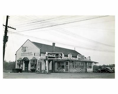 1941 Pure Oil Gas Station Photo Hickory NC Gas Globe Coca Cola ch2541