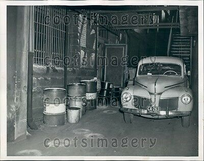 1949 Vintage Car Blocks Fire Escape Exit State Theater Cleveland OH Press Photo