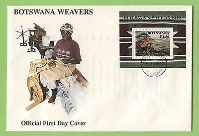 Botswana 1998 Weavers miniature sheet on First Day Cover
