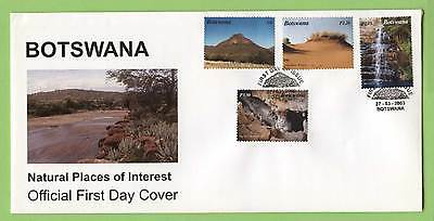 Botswana 2003 Natural Places of Interest set on First Day Cover
