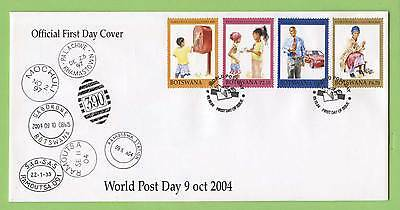 Botswana 2004 World Post Day set on First Day Cover