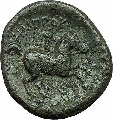 Philip II Alexander the Great Dad OLYMPIC GAMES Ancient Greek Coin Horse i34573