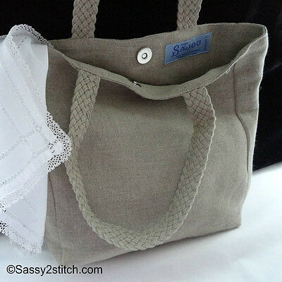 Linen Project Tote Bags - Stitchable