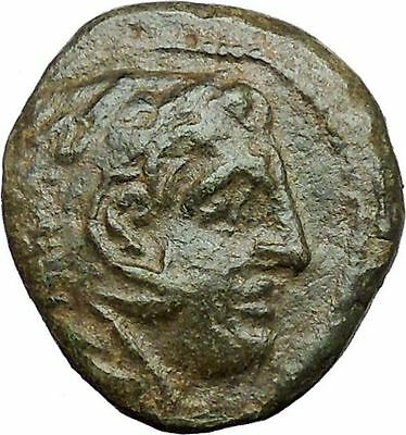 Alexander III the Great 336BC Ancient Greek Coin Hercules Bow Club i34583