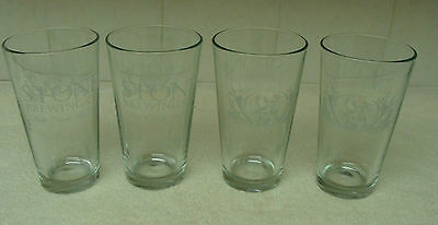 STONE BREWING CO. 16oz PINT GLASSES SET OF 4 NEW