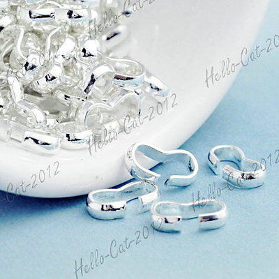 65PCS SILVER CORD END TIPS IRON FIT BRACELET NECKLACE FINDING TN0060